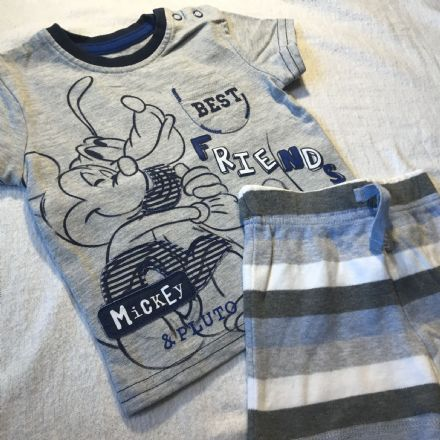 0-3 Month Best Friends Shorts Set